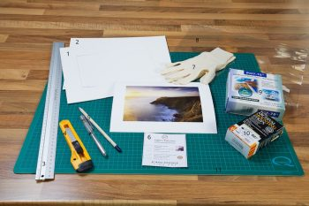 An image showing all the materials required for the proper archival mounting of a fine art photographic print from John Dunne Photography by John Dunne.
