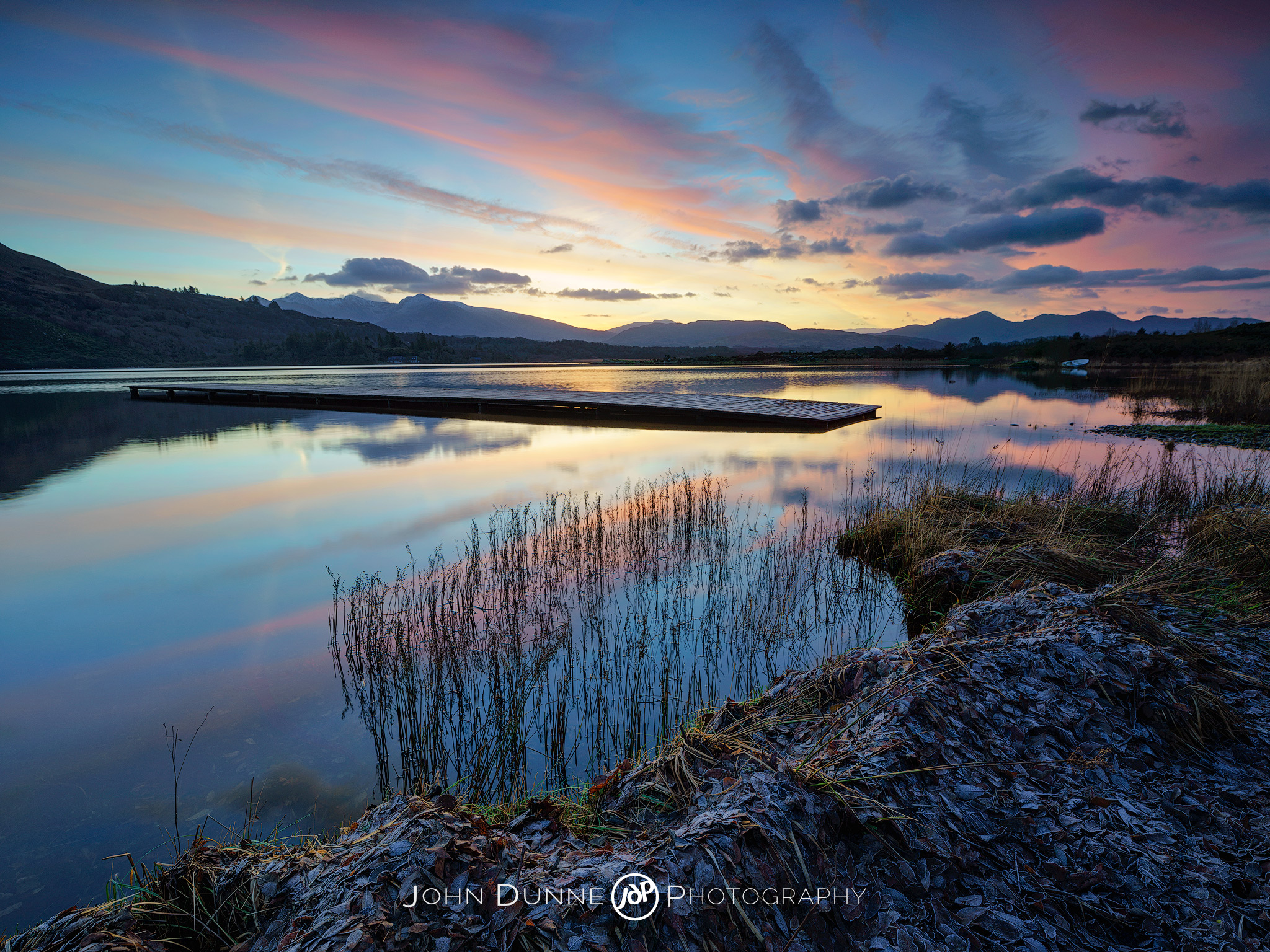 Dawn's light above Lough Caragh by © John Dunne 2014, all rights reserved.