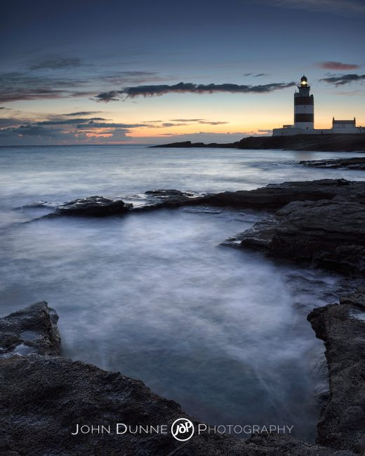 Last Light at Hook Lighthouse by © John Dunne 2014, all rights reserved.