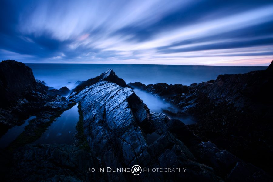 Predawn at Greystones Beach by John Dunne.