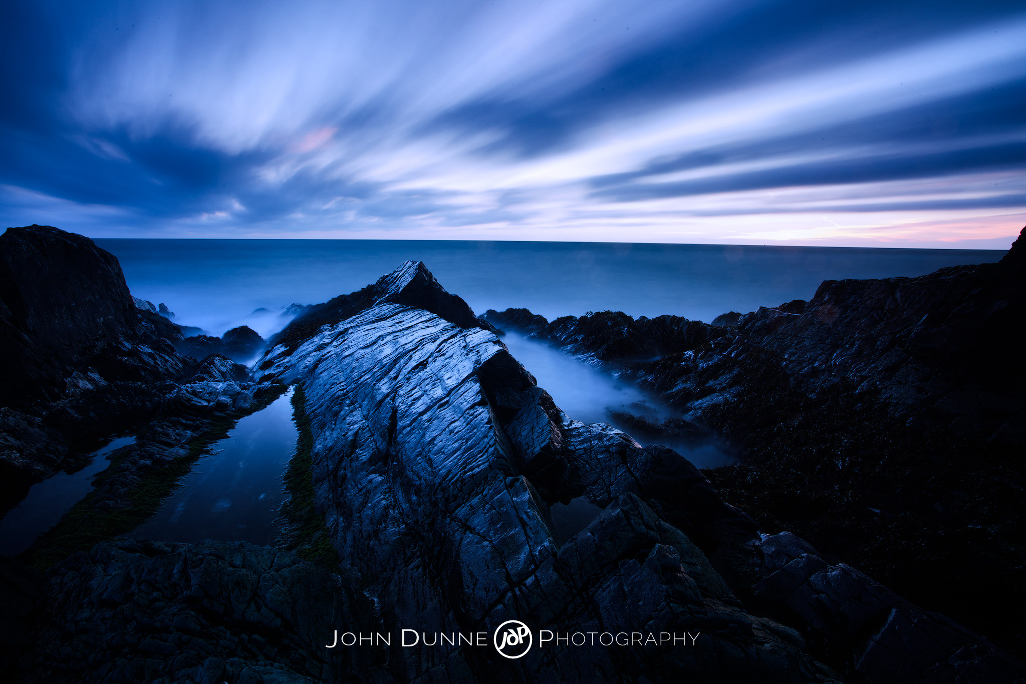 Predawn at Greystones Beach by John Dunne.