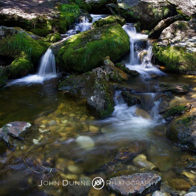Sunlight, Shadows and Waterfalls by John Dunne.