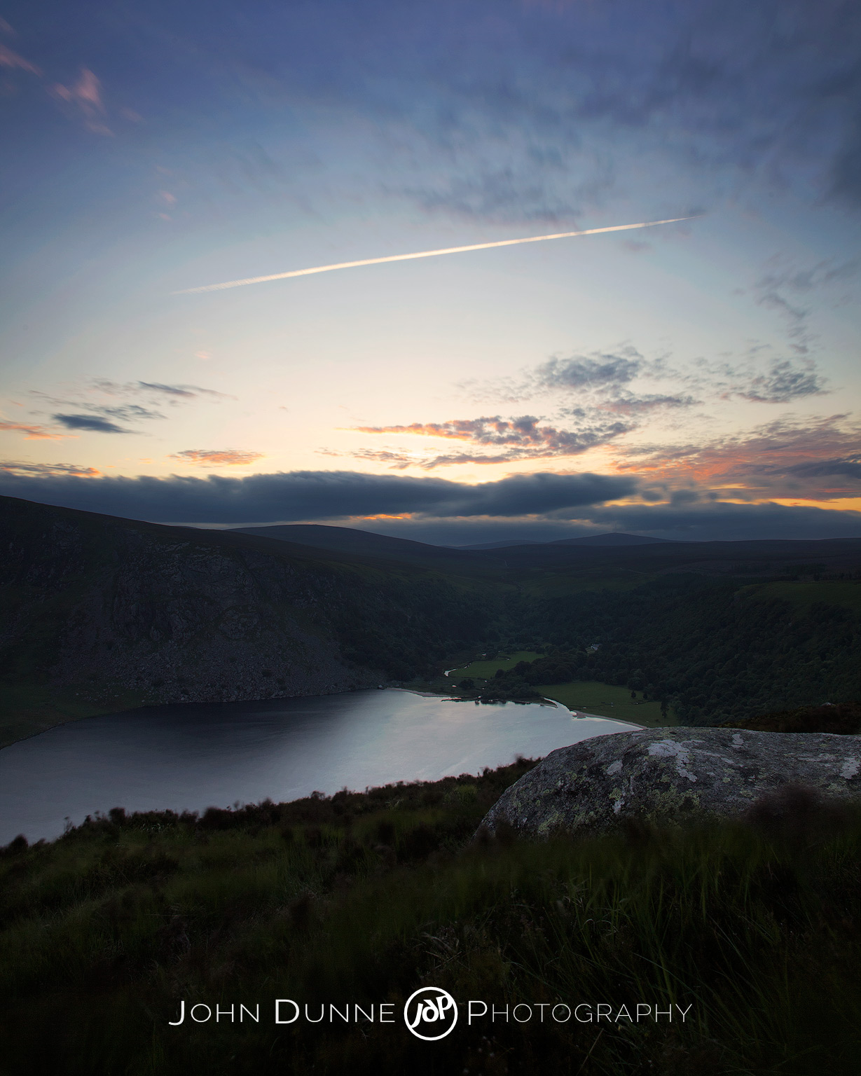 Sunset Over Lough Tay 2 by John Dunne 2009.