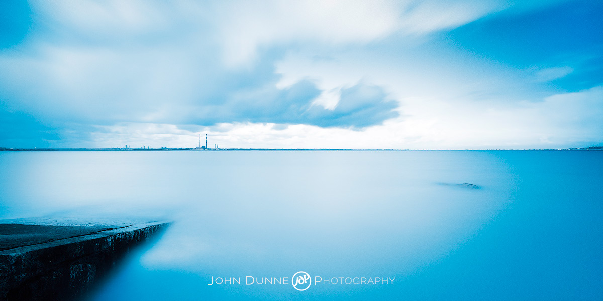 View from Seapoint of Poolbeg by John Dunne.