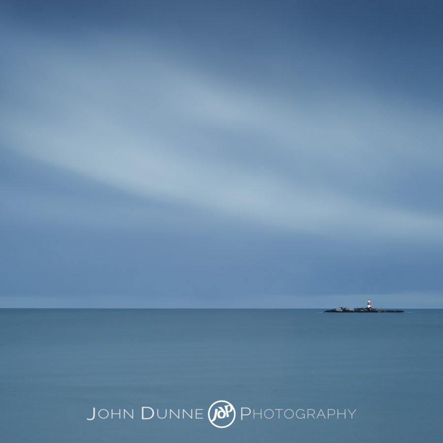 Waiting - Lighthouse, Isolated, Blue by © John Dunne 2014, all rights reserved.