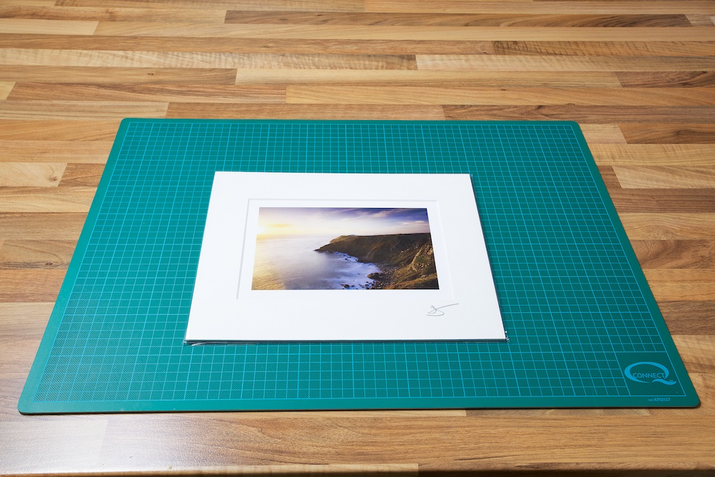 An image of the finished Matted Fine Art Print in a protective clear plastic bag from John Dunne Photography by John Dunne.