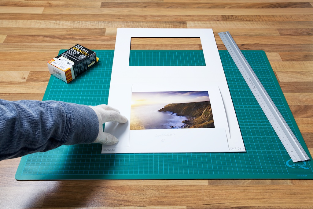 An image of the print laid flat on the under-mount from John Dunne Photography by John Dunne.