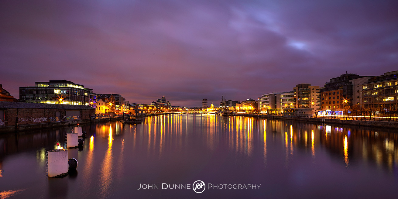 Dublin City at Twlight by © John Dunne 2014, all rights reserved..