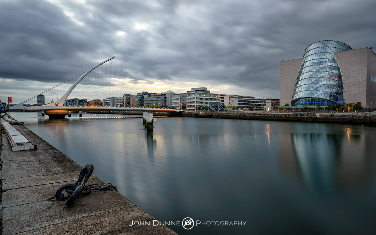 CCD and Samuel Beckett Bridge by © John Dunne 2015, all rights reserved.