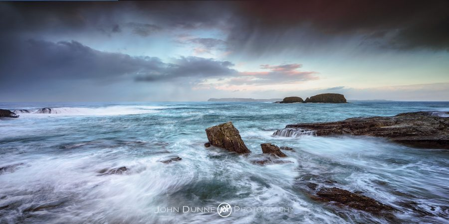 Stormfront over Ballintoy #1 by © John Dunne 2017, all rights reserved.